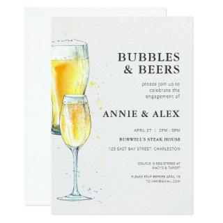Engagement Party Invitations - Bubbles & Beers