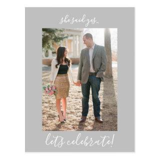 Engagement Party Invitations Photo Postcard