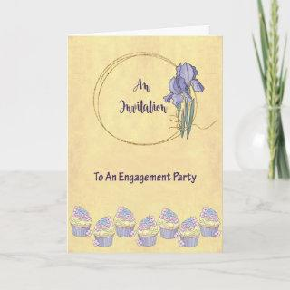 Engagement Party Invitations with Iris