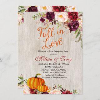 Engagement Party Rustic Shower Fall Pumpkin Invite