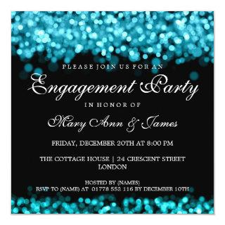 Engagement Party Turquoise Lights Invitation