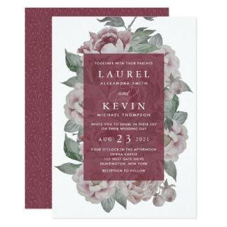 English Garden Wedding Invitation | Marsala