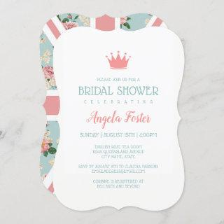 English Roses Union Jack Bridal Shower Invitations