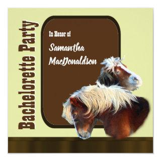 Equestrian horse bachelorette party Invitations