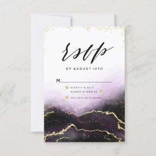 Ethereal Mist Ombre Amethyst Gilded Moody RSVP