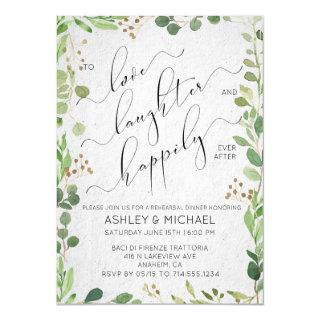 EUCALYPTUS & BERRY | Happily Ever After Rehearsal Invitation