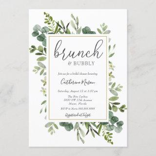 Eucalyptus Brunch and Bubbly Bridal Shower Invitations