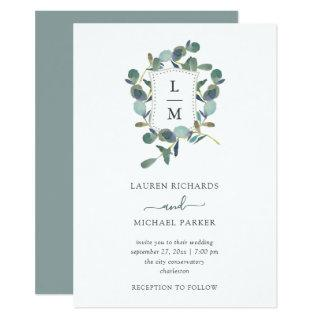 Eucalyptus Crest | Watercolor Wedding Invitation