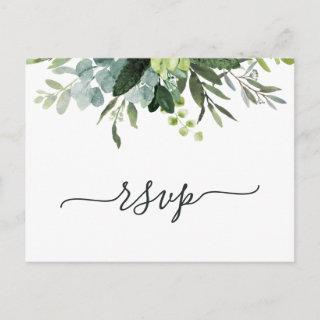 Eucalyptus Green Foliage RSVP Invitations Postcard