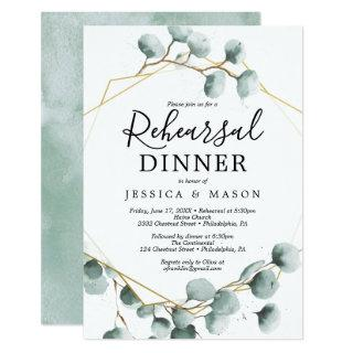 Eucalyptus Greenery Rehearsal Dinner Invite Card