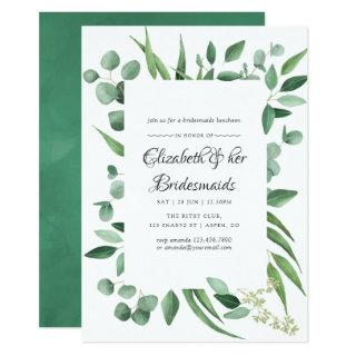 Eucalyptus Greenery Wedding Bridesmaids Luncheon Invitations