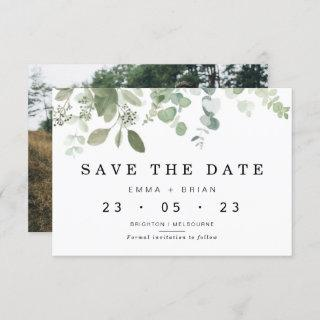 Eucalyptus Greenery Wedding Save The Date Card