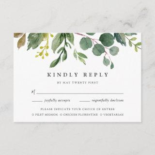 Eucalyptus Grove RSVP Card w/ Meal Choice