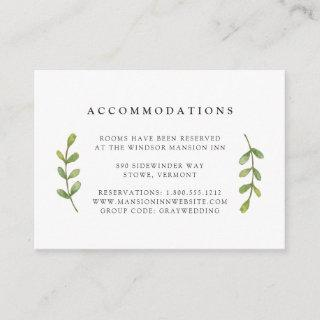Eucalyptus Grove Wedding Hotel Accommodation Cards