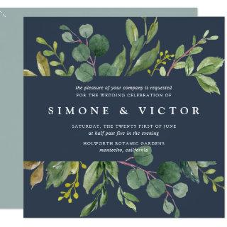 Eucalyptus Grove Wedding Invitation | Square