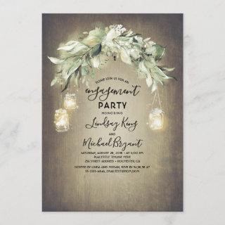 Eucalyptus Leaves Greenery Rustic Engagement Party