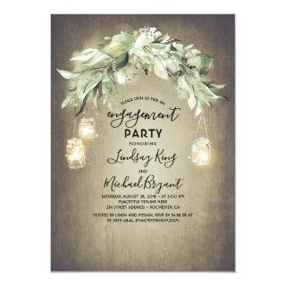 Eucalyptus Leaves Greenery Rustic Engagement Party Invitation