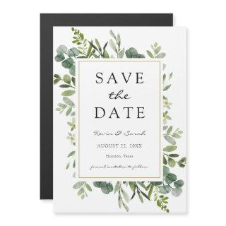 Eucalyptus Save the Date Magnetic Invitations
