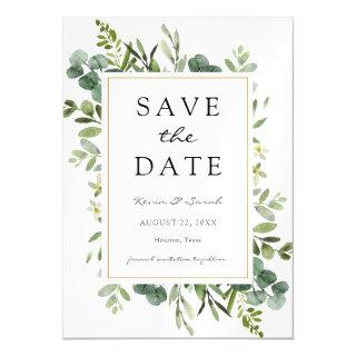 Eucalyptus Save the Date Magnetic Invitation