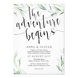 Eucalyptus The Adventure Begins Wedding Invitations