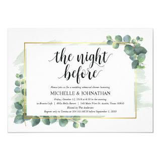 Eucalyptus Wedding Rehearsal Dinner Invitation