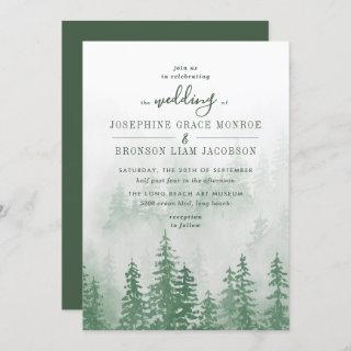 Evergreens in the Fog Forest in Green Wedding