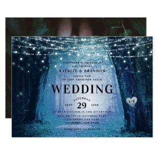 Evermore   Enchanted Fairy Forest   Blue Wedding Invitations