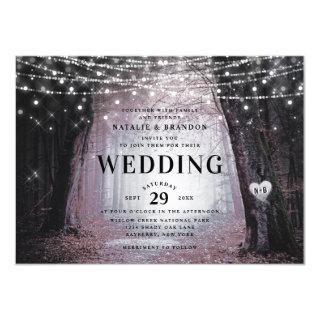 Evermore | Enchanted Fairy Forest | Mauve Wedding Invitation
