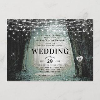 Evermore | Enchanted Fairy Forest | Moss Wedding Invitation