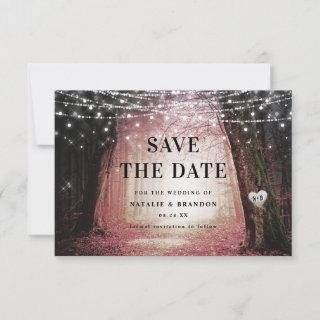 Evermore   Enchanted Fairy Forest   Pink Wedding Save The Date