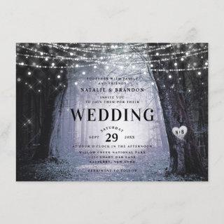 Evermore | Enchanted Fairy Forest | Purple Wedding Invitations