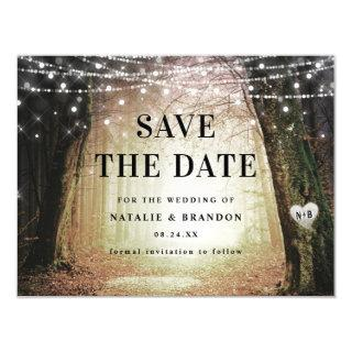 Evermore | Enchanted Forest Amber Save the Date Magnetic Invitations