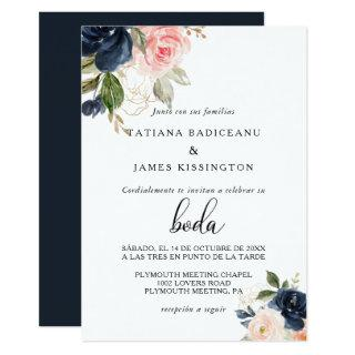 Exquisite Fall Floral Wedding Invitation