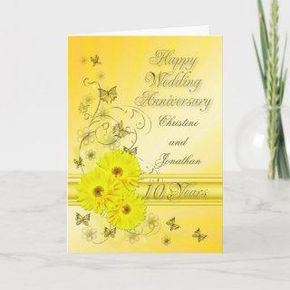 Fabulous flowers 10th anniversary for a second card