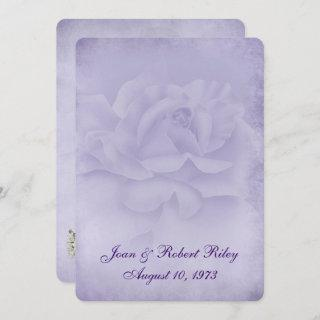 Faded Rose Vow Renewal Invitations