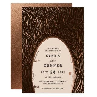 Fairy Door Irish Folklore Fairytale Tree Wedding Invitation