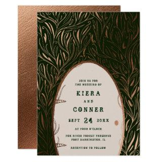 Fairy Door Irish Folklore Fairytale Tree Wedding Invitations