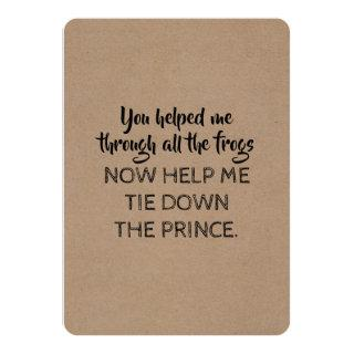 Fairy tale Style Funny Will you be my Bridesmaid Invitations