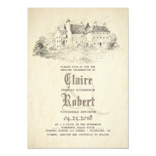 Fairytale - Story Book Old Castle Vintage Wedding Invitations