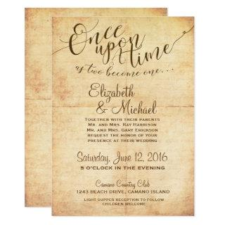 Fairytale Wedding Invitation Once Upon A Time