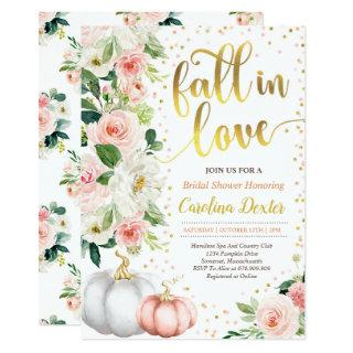 Fall Bridal Shower Invitation Fall In Love Shower