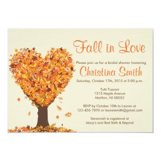 Fall Bridal Shower Invitations - Fall in Love