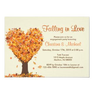 Fall Engagement Party Invitations -Falling in Love