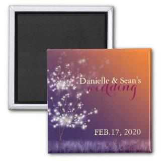 Fall Evening Dandelions Wedding Save the Date Magnet