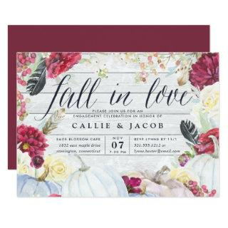 Fall in Love | Autumn Engagement Party Invitations