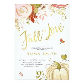 Fall in Love  Bridal shower Invitations Baby Autumn