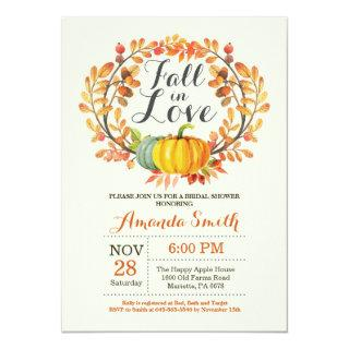 Fall in Love Bridal Shower Invitations Card