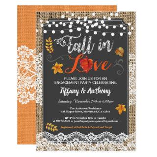 Fall in love engagement party rustic chalkboard invitation