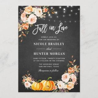 Fall in love fall rustic floral wedding