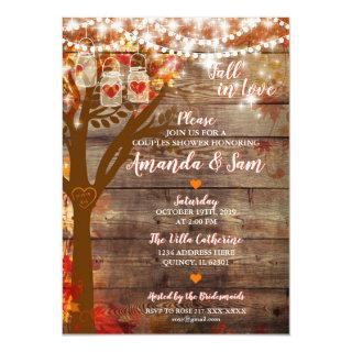 Fall in Love Rustic Bridal Shower Invitations